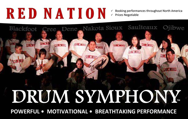 Flyer Red Nation Drum Symphony Bookings